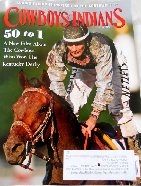 This is the cover of my Cowboys and Indians Magazine with '50 to 1' on the cover.