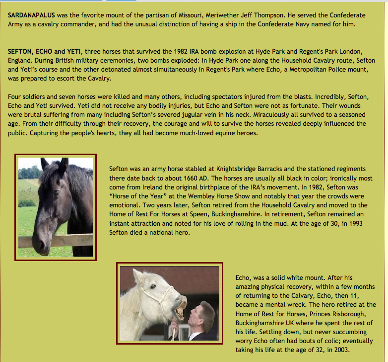 war horse coursework Engage students in a study of historical fiction and teach them how to summarize with the history, science, and language arts activities in this war horse guide.