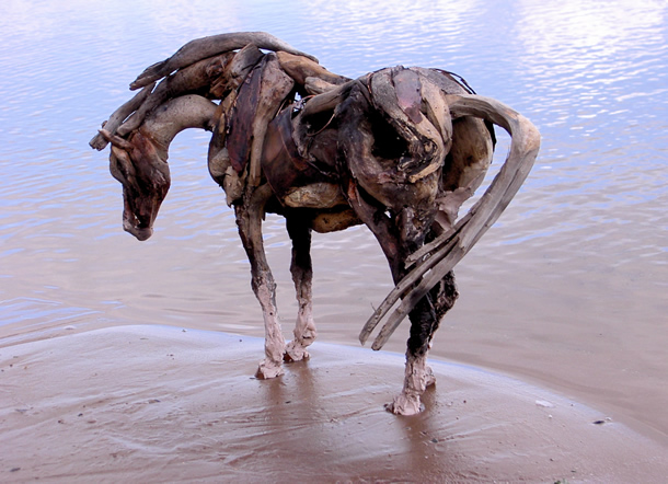 heather jansch a whole other meaning to driftwood art. Black Bedroom Furniture Sets. Home Design Ideas